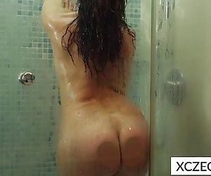 Erotic showering with super hot MILFHD