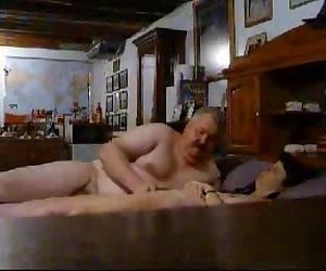 Hidden cam catches my old parents having fun on bed - 2 min