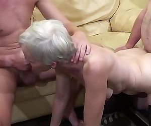 Old woman makes a threesome with her nephew and her father 11 min HD+