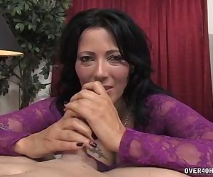 Horny Milf Jerks Off Her DriverHD